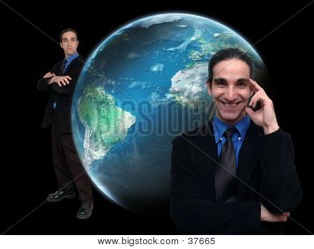 Businessman And World-5