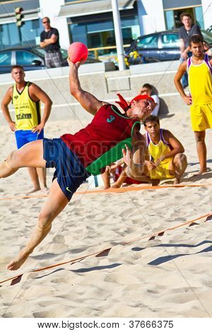 Match Of The 19Th League Of Beach Handball, Cadiz