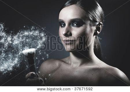 Girl And A Diamond Powder
