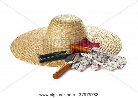 Gardening Hat And Tools