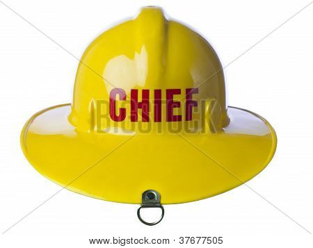 Yellow Fire Helmet