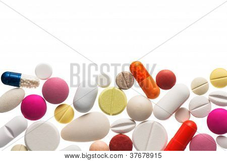 Colorful Pills , Isolated