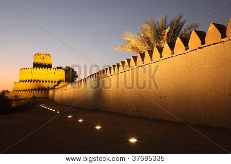 Al Jahili Fort In Al Ain, UAE