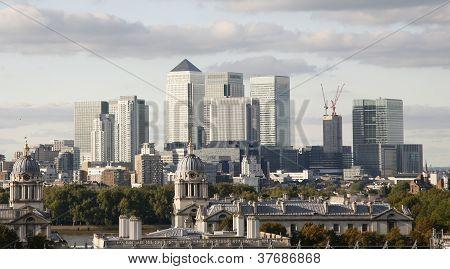 London Skyline, Canary Wharf