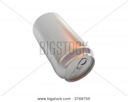 Beer In Aluminum Isolated On White Background
