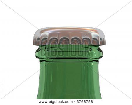 Green Beer Bottle With Cap
