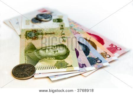 Chinese Yuan (Rmb) Renminbi On White