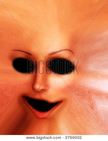 Horror Skin Face