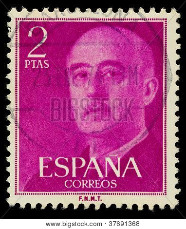 Spanish Franco Postage Stamp