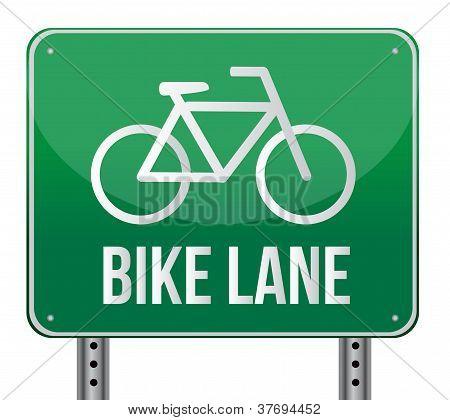 Bike Lane Sign Illustration Design
