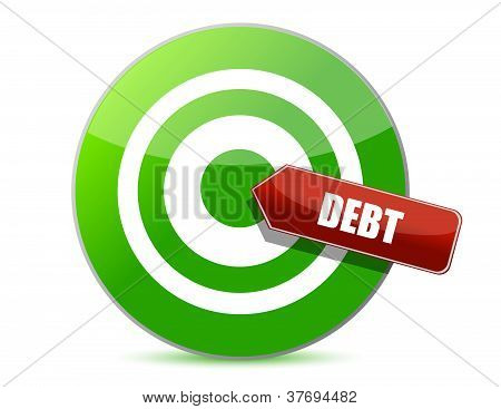 Target Debt Illustration Design