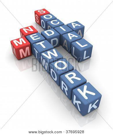 Crossword Of Social Media Network