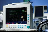 stock photo of anesthesia  - Photo of Anesthesia monitor description close up - JPG