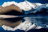pic of cho-cho  - view of cho oyu with mirroring lake - JPG