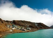 stock photo of chola  - dudh pokhari lake - JPG