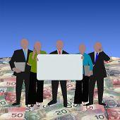 Постер, плакат: Канадский бизнес команда на доллары