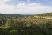 stock photo of punchbowl  - View from Hindhead Common of the deep valley known as the Devil - JPG