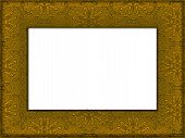 Classic Decorated Gold Art Frame