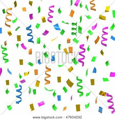 Colorful confetti, 3d