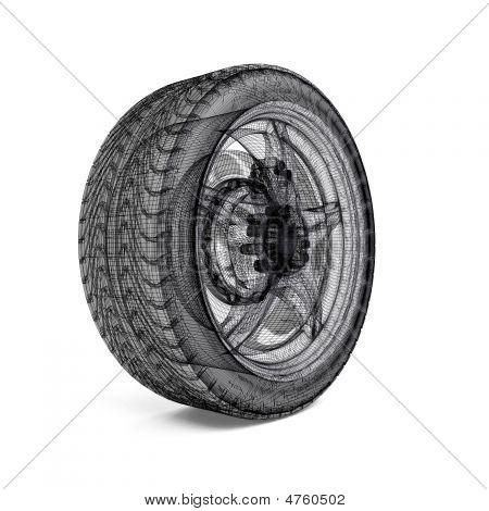 Drawing Car Wheel