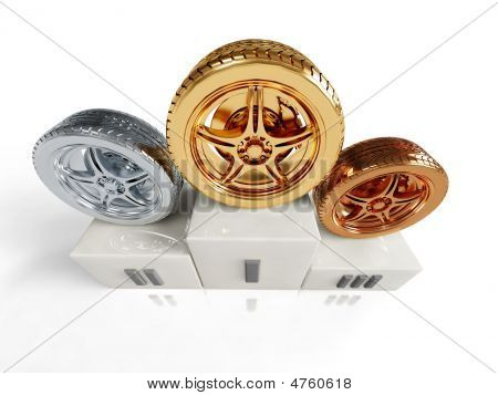 Gold, Silver And Bronze Wheel Awards
