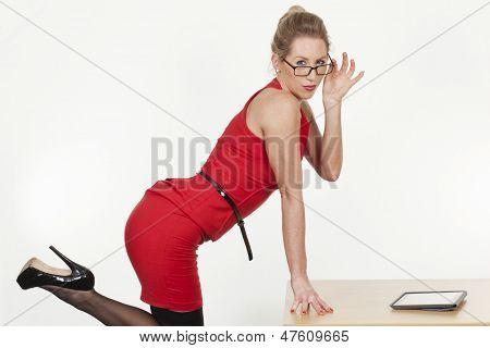 Sexy Provocative Businesswoman