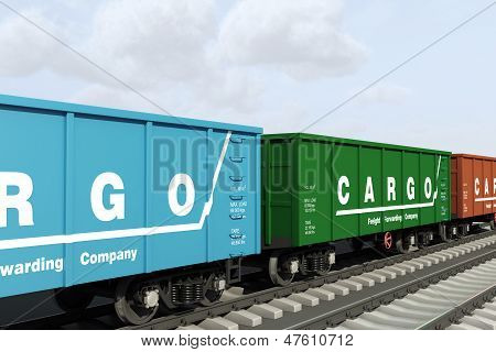 Freight forwarding services. Shipping in the wagons.