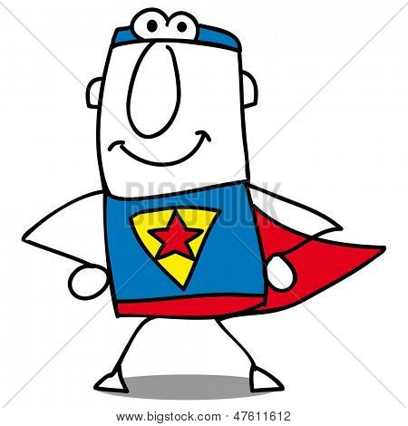 Super hero is coming back. super businessman is ready for action