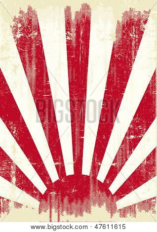 Japan grunge war flag. An old japan grunge flag for you