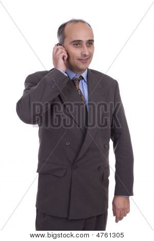 Business Man At Phone