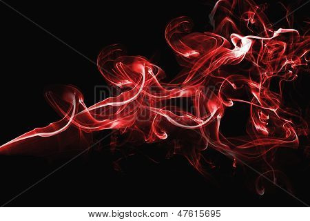 Red Abstract Smoke Design