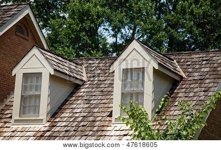 Dormes On Wood Shaker Roof