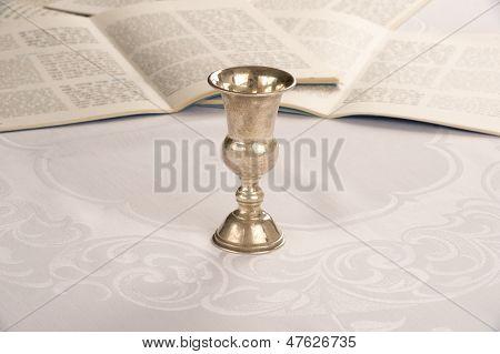 Kiddush Cup And Haggadah