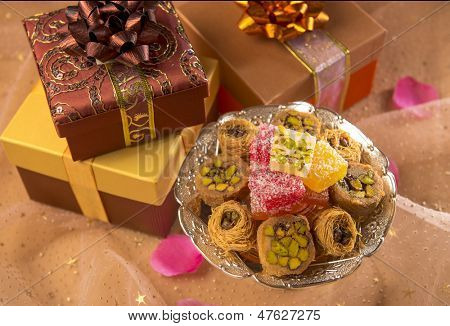 Gifts and arabic sweet