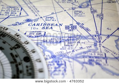 Air Navigation: Map Of The Caribbean Sea