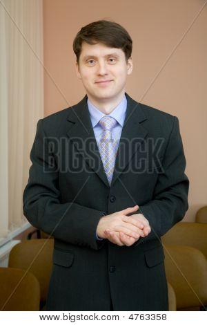 Empresário em um terno