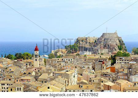 Kerkyra town in Corfu, Greeece