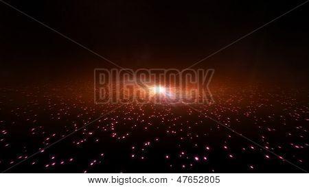 Orange Galaxy Light