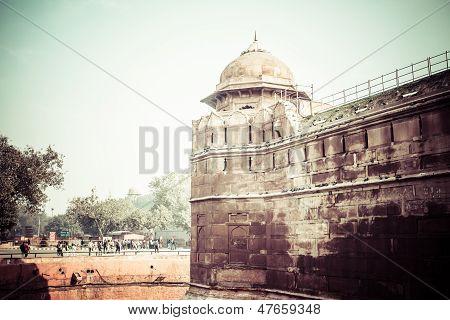 Red Fort (lal Qila) Delhi - World Heritage Site. Delhi, India