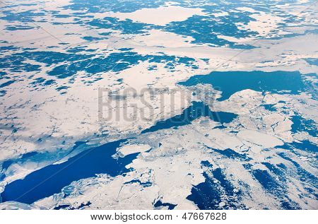 Sea With Ice From Above