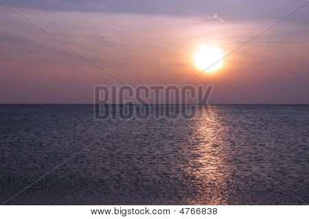 Spring Sunset Over Lake Michigan