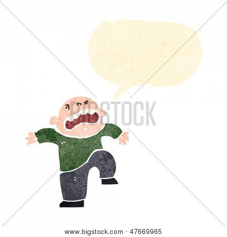 retro cartoon boy having temper tantrum