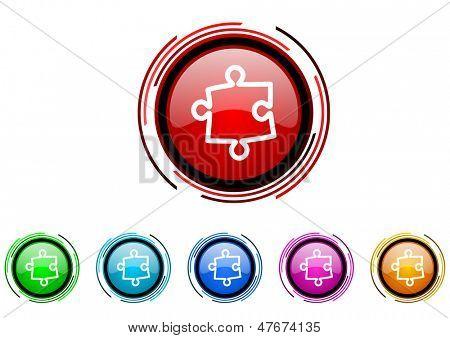 conjunto de iconos de Puzzle
