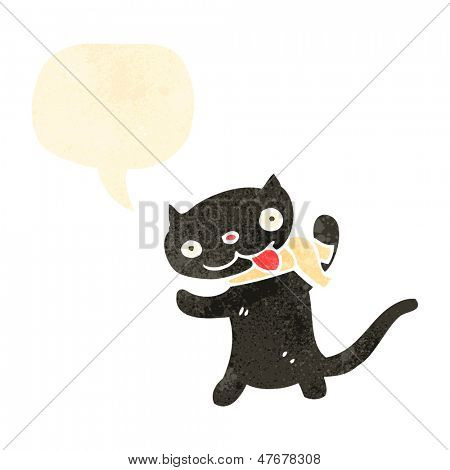retro cartoon black cat