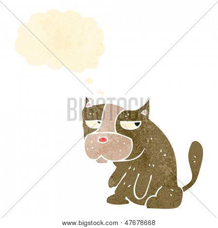 grumpy little dog retro cartoon
