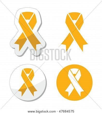 Gold ribbon - childhood cancer symbol