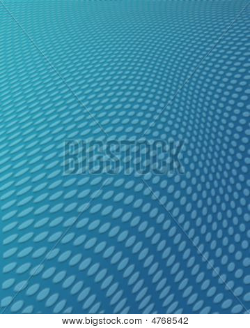 Blue Dotted Wavy Background