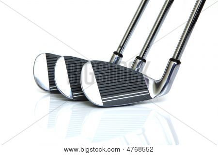 Golf Clubs Isolated
