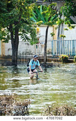 Thai inundación Crisis en Bangkok, Tailandia