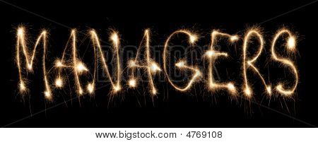 Word Managers Written Sparkler